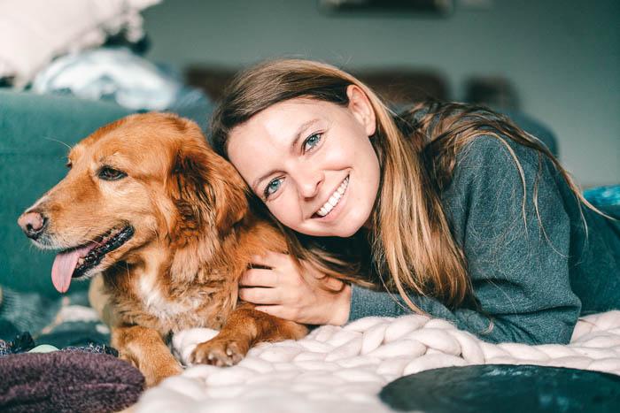 Christine Neder und Hund