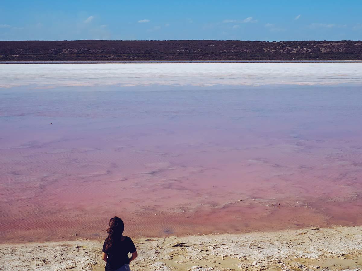 Hutt Lagoon in Westaustralien