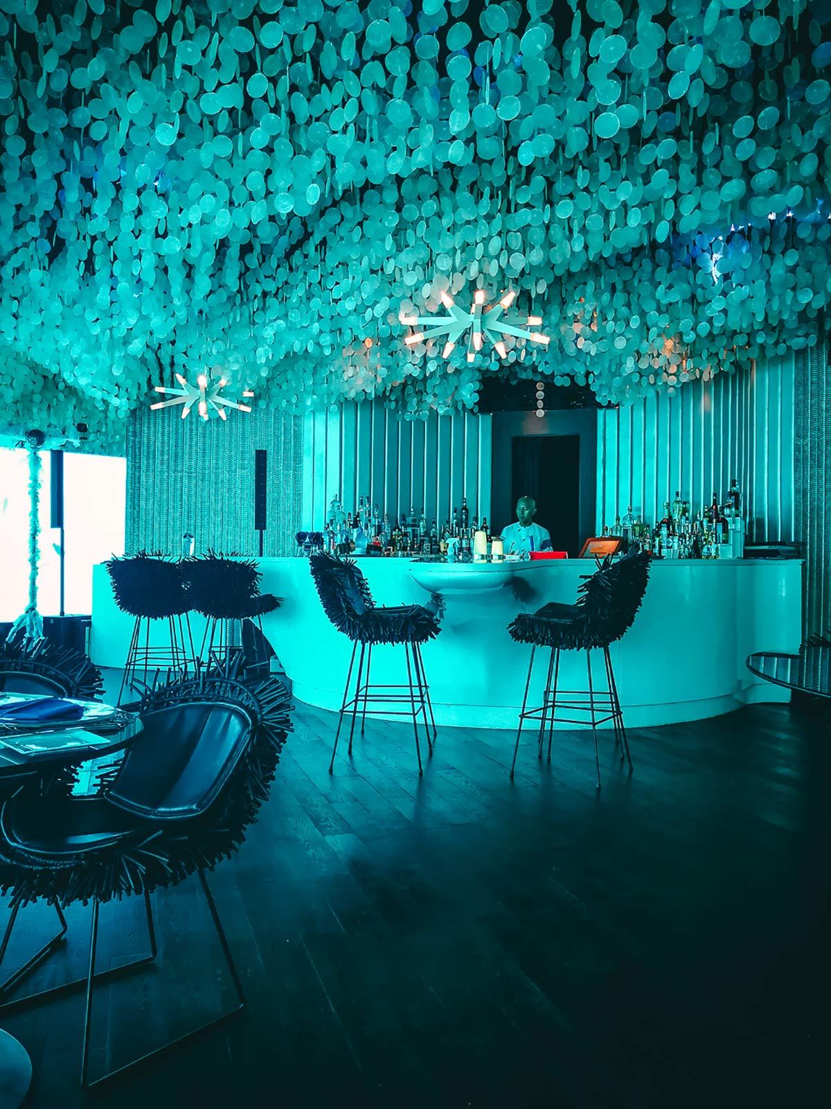 Restaurant unter Wasser Malediven