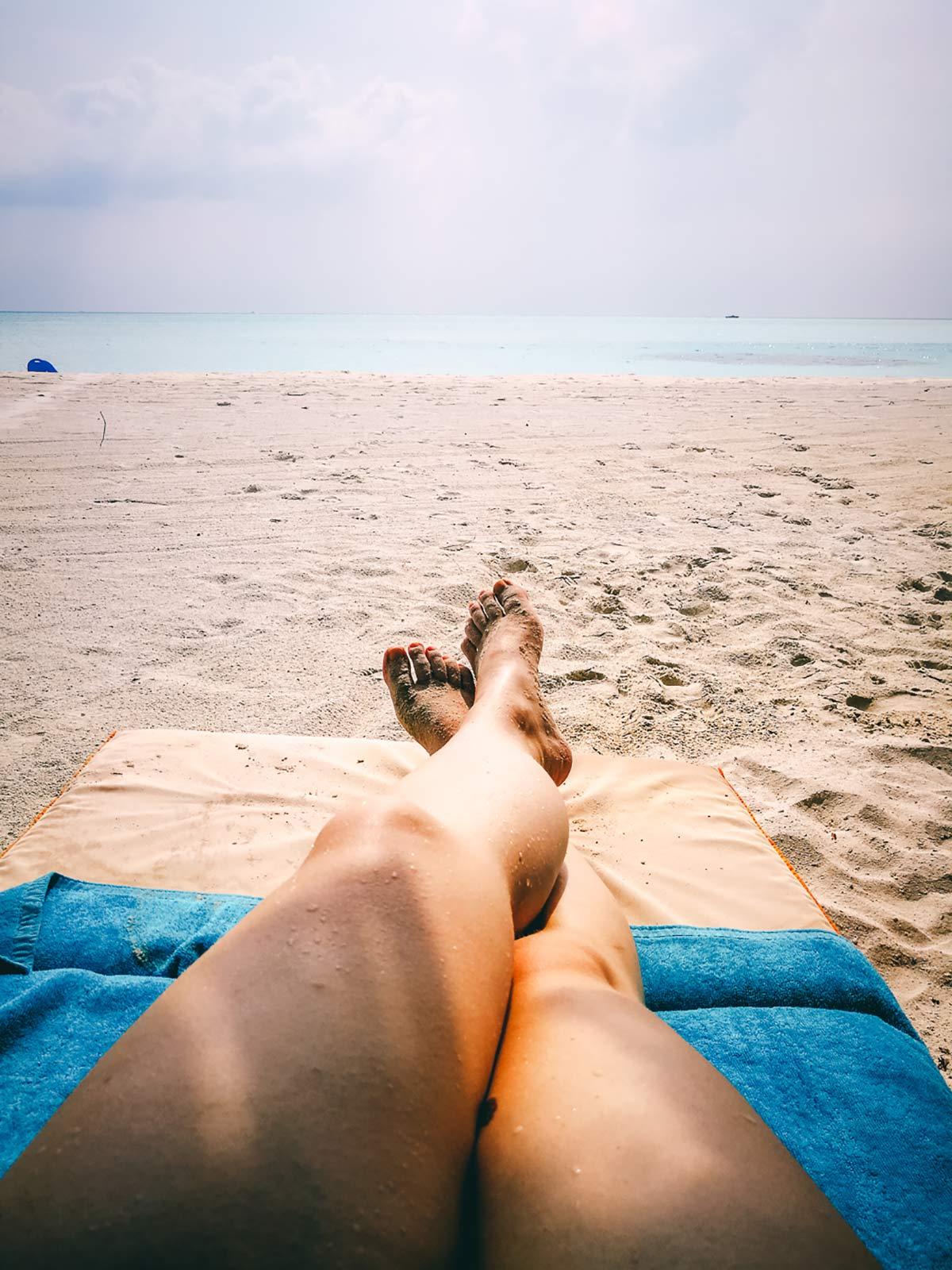 Strand Beine Malediven