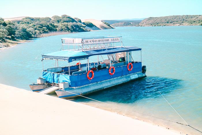 Bootsfahrt über den Sunday River in Südafrika