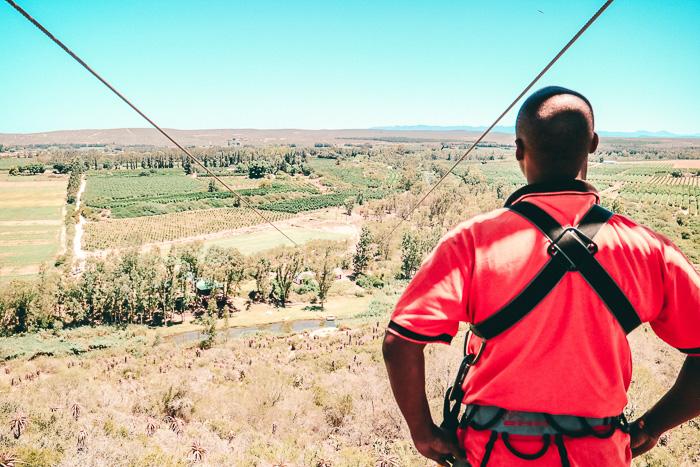 Zip Lining in Südafrika