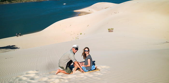Sand Sledding in Südafrika