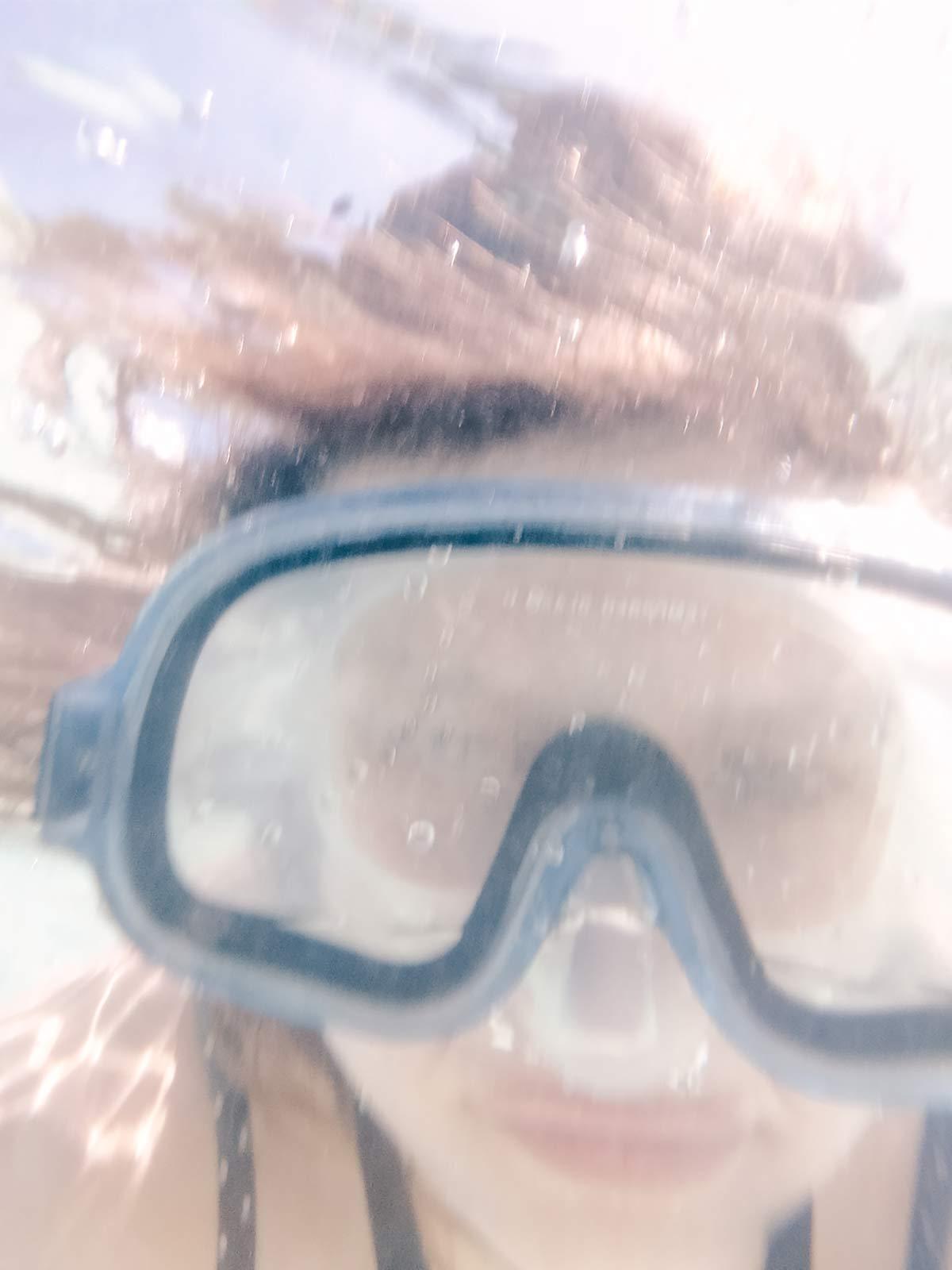 Taucherbrille Unterwasser