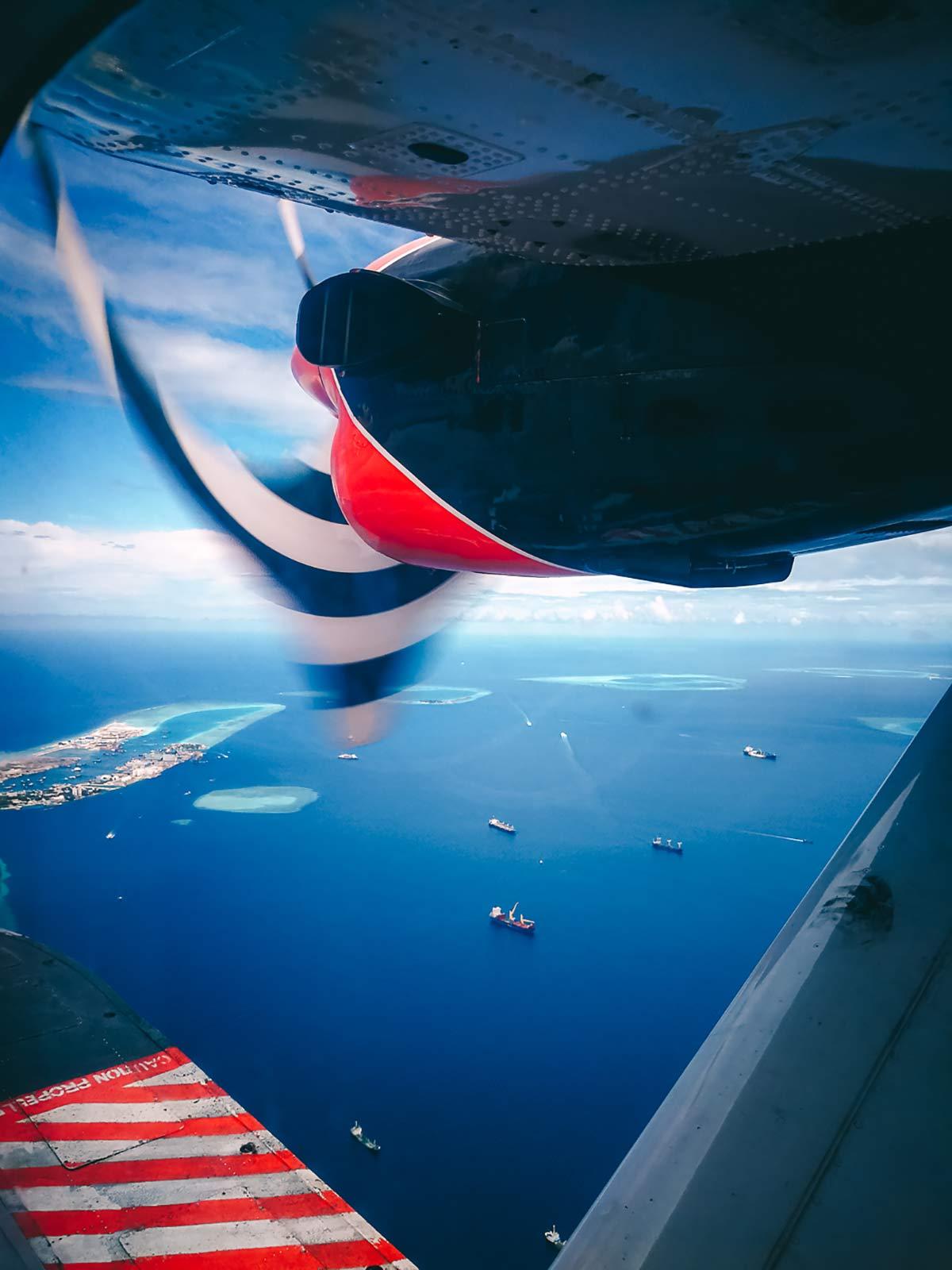 Waserflugzeug Malediven