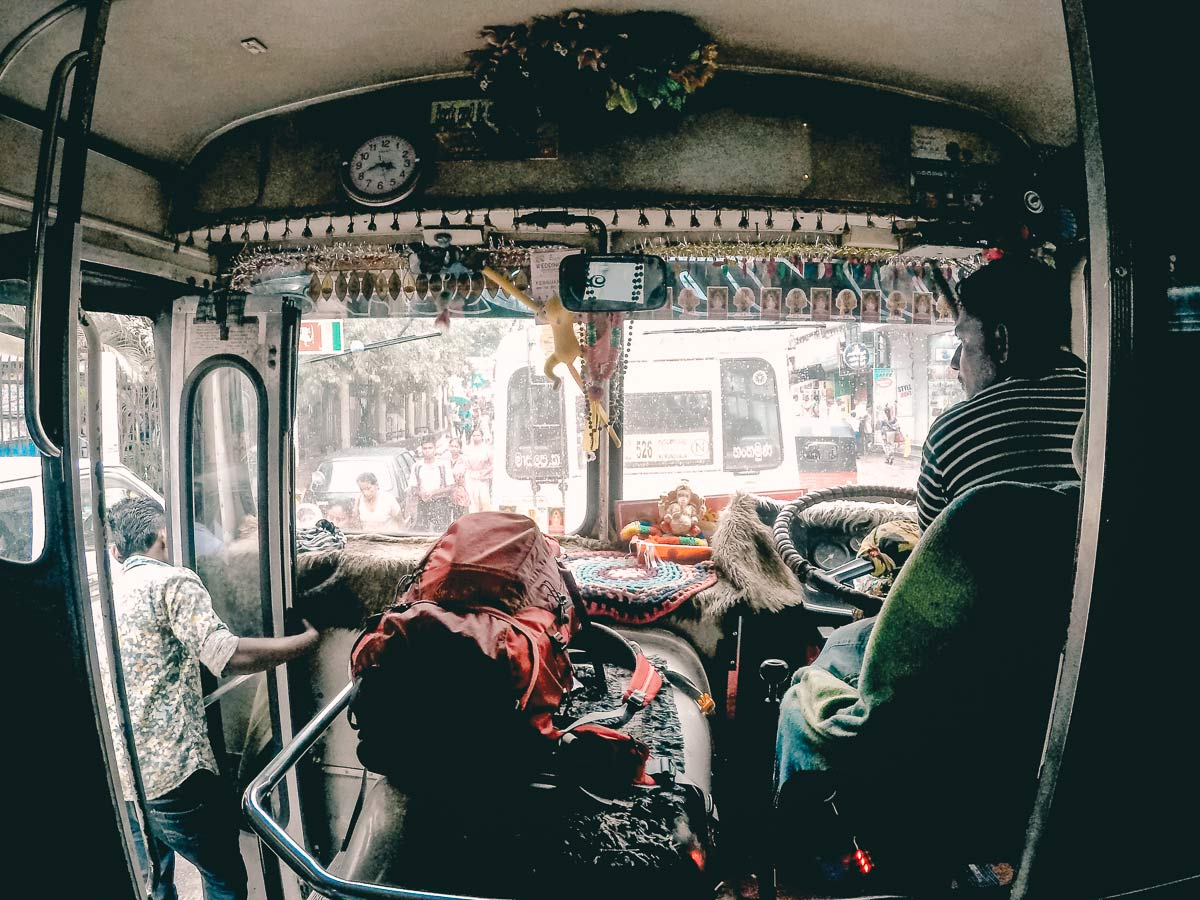 Busfahrt nach Kandy