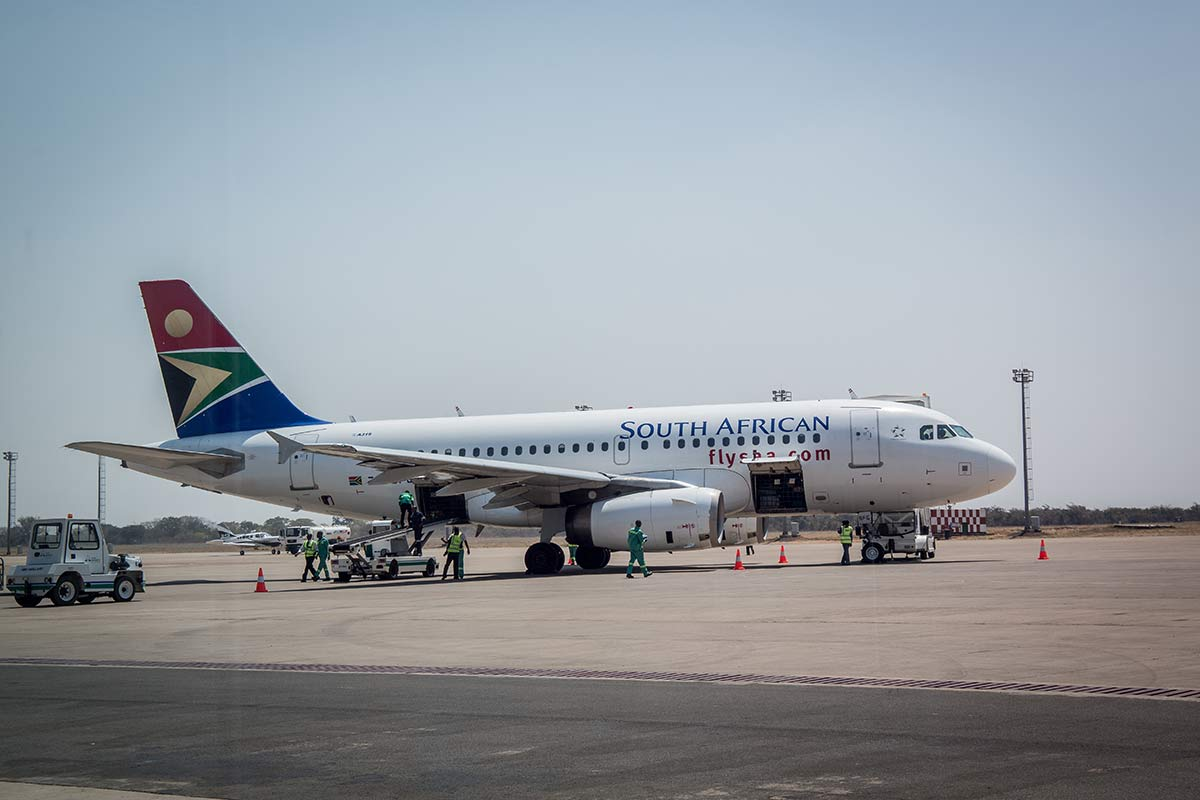 Flugzeug von South African Airways