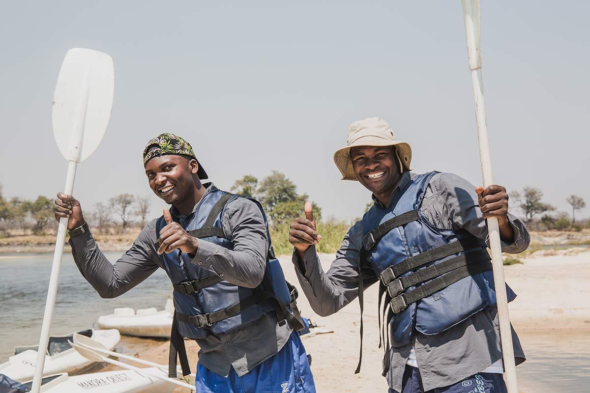 Kanufahren in Sambia mit Makora Quest