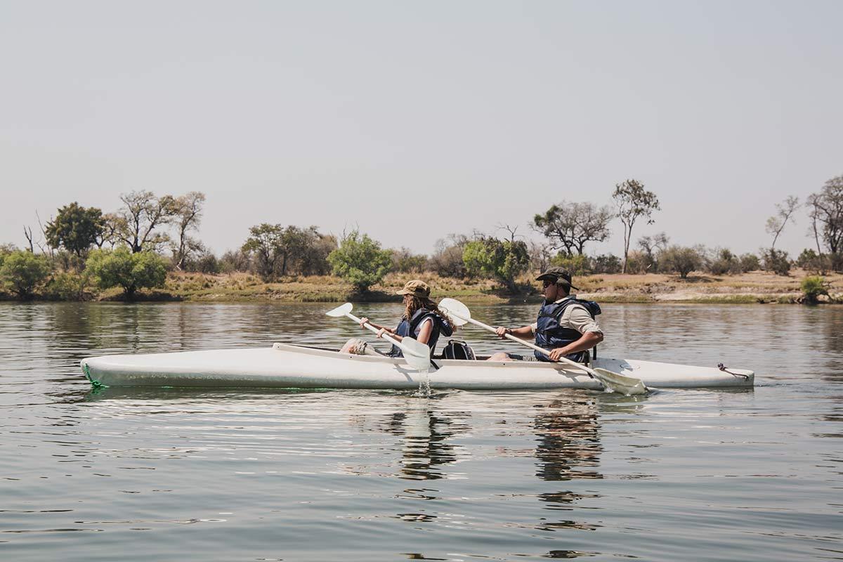 Kanutour auf dem Sambesi in Sambia