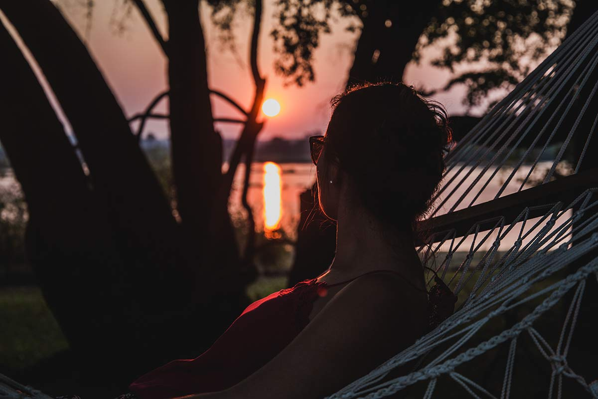 Sonnenuntergang im Royal Livingstone Victoria Falls
