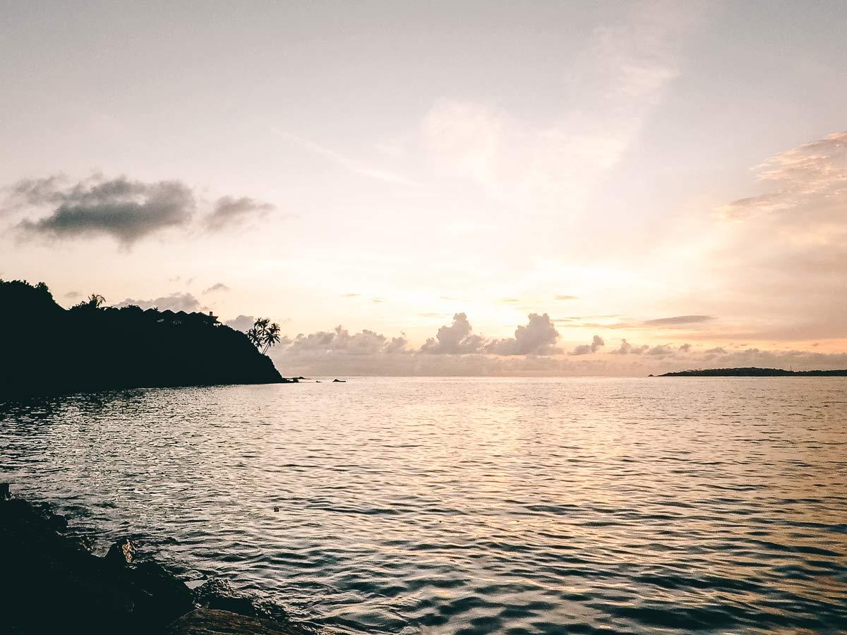 Sonnenuntergang Mirissa Hafen