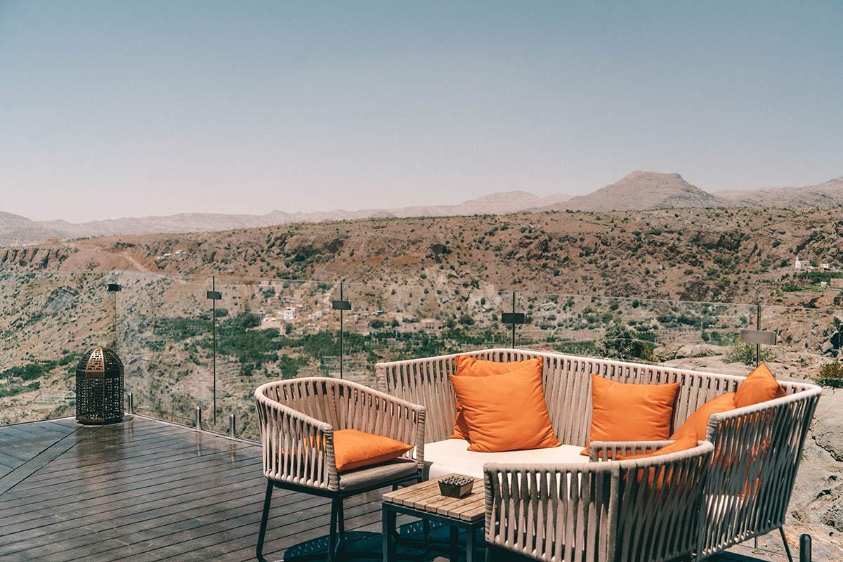 Anantara Al Jabal Al Akhdar Aussicht
