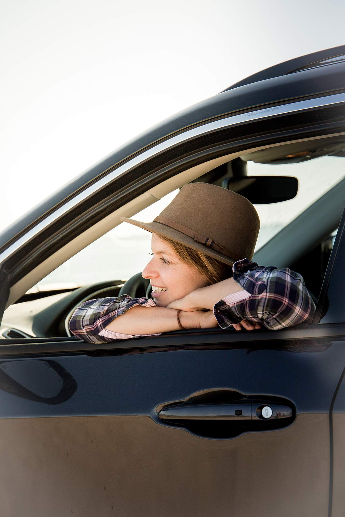 Christine Neder im Auto