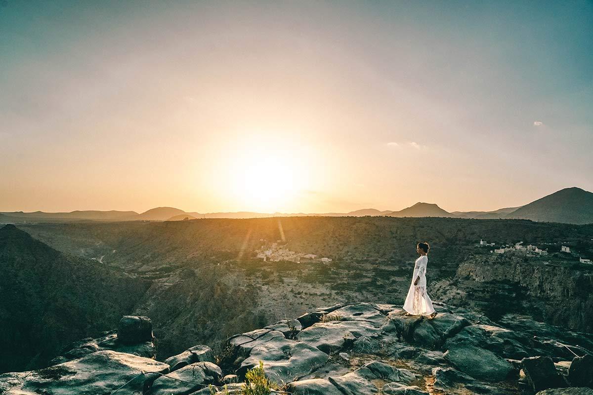 Sonnenuntergang Anantara Al Jabal Al Akhdar Christine Neder