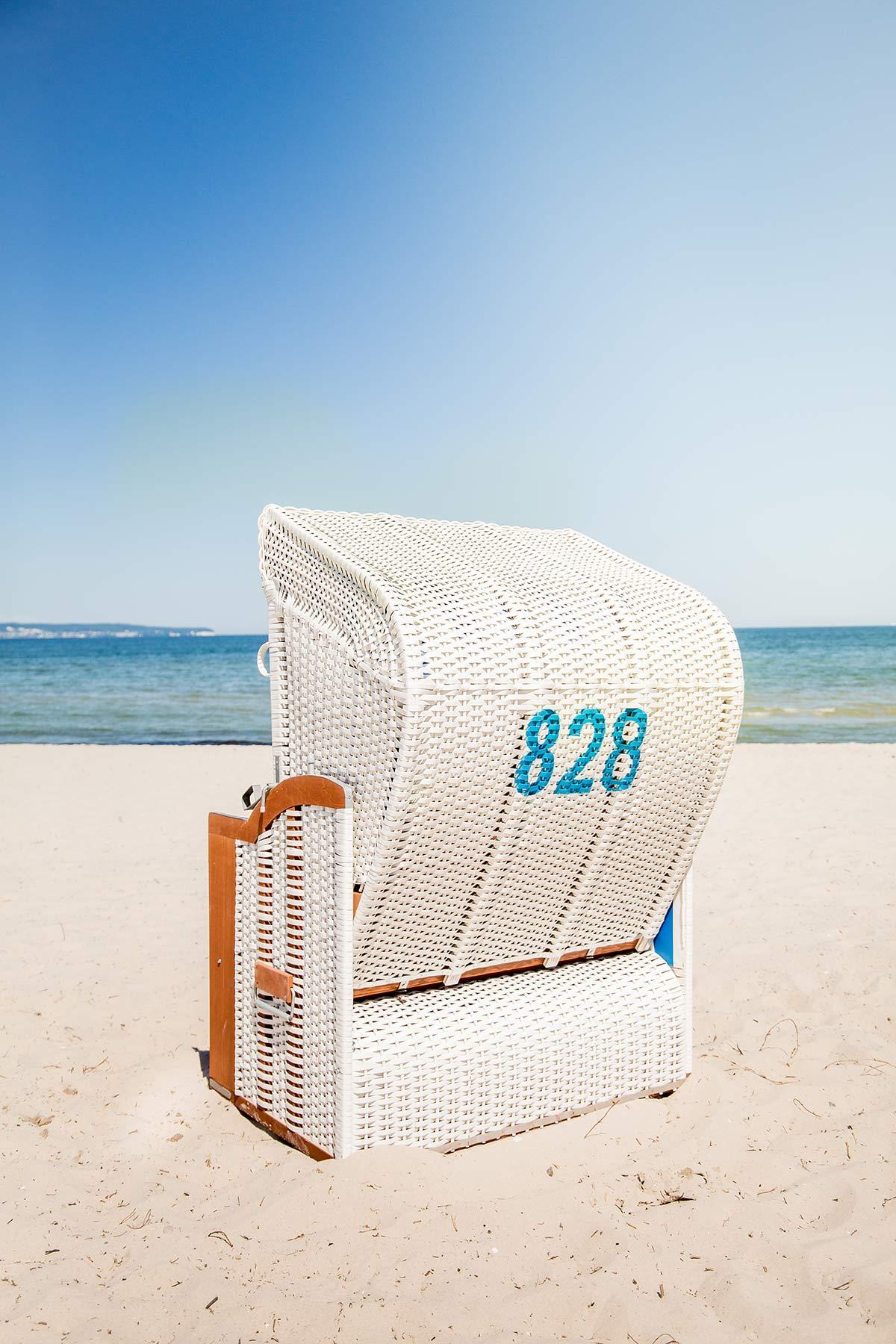 Strandkorb auf Ruegen