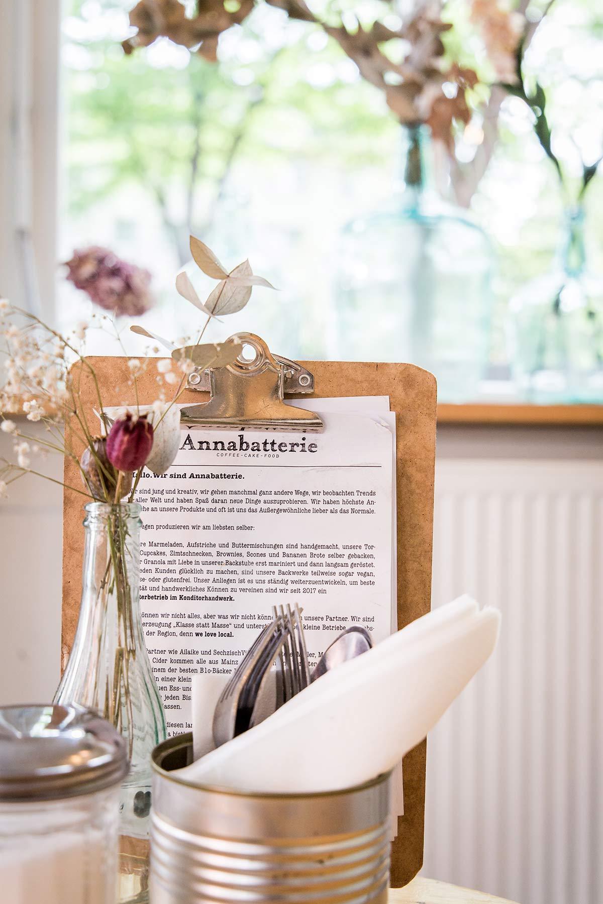 Annabatterie Mainz Speisekarte