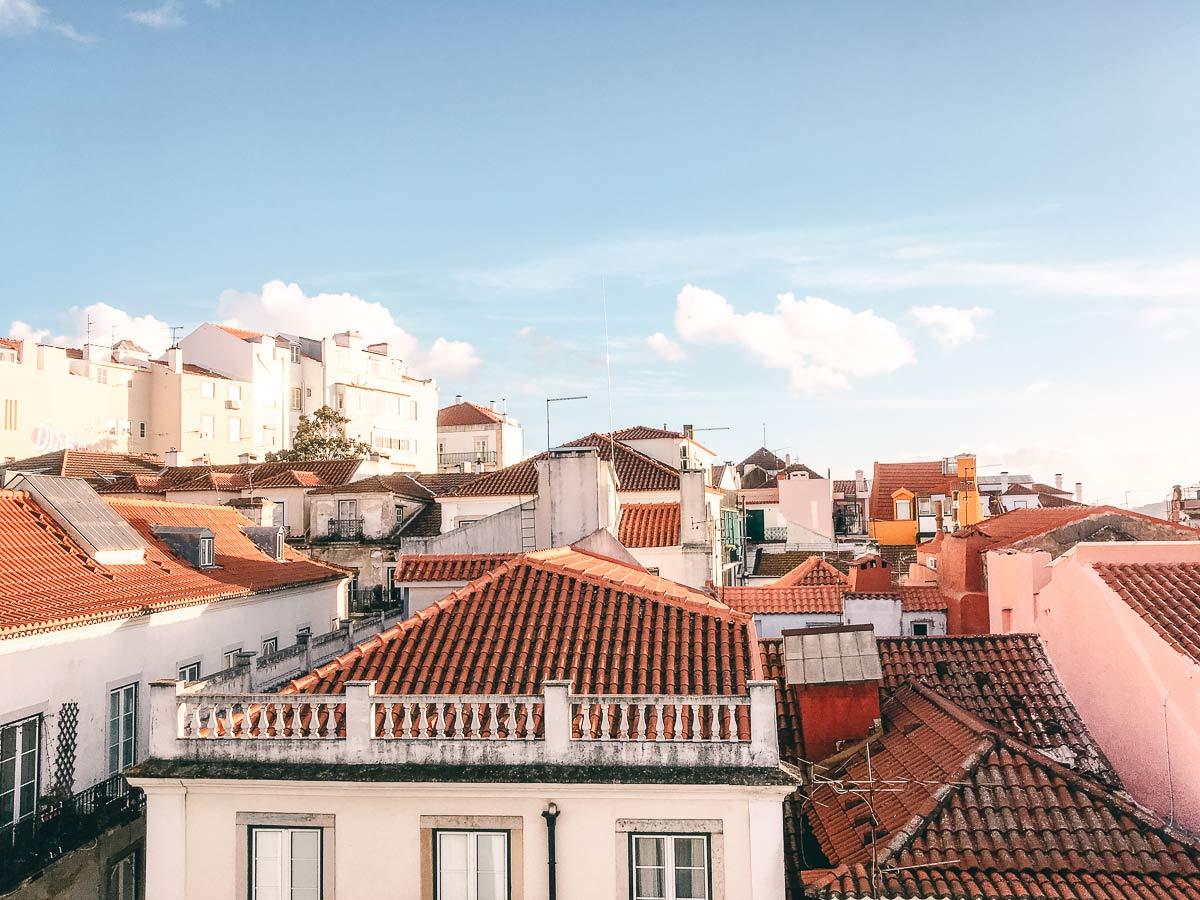 Blick ueber Lissabon