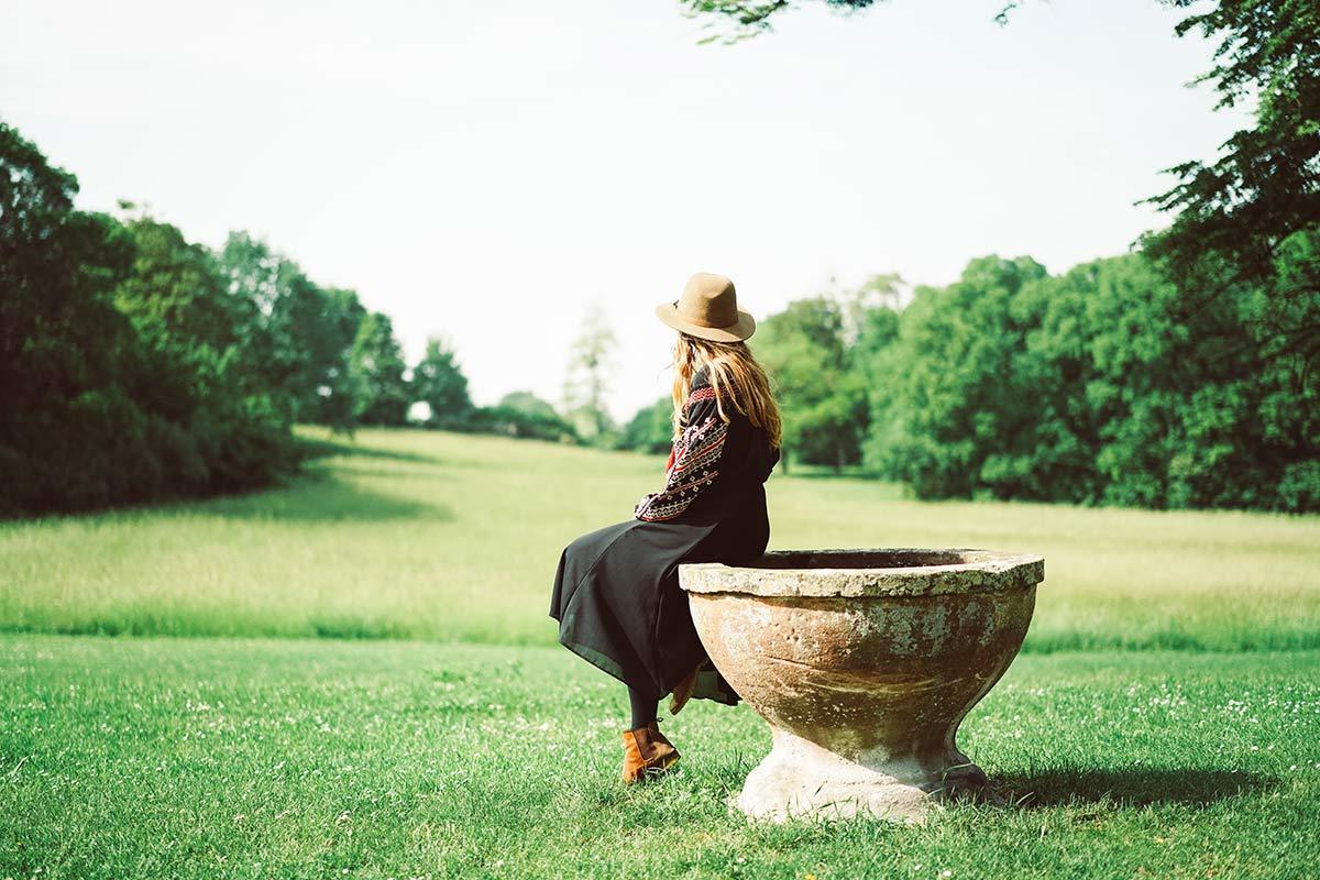 Christine Neder im Schlossgarten Herrnsheim Worms Sehenswürdigkeiten