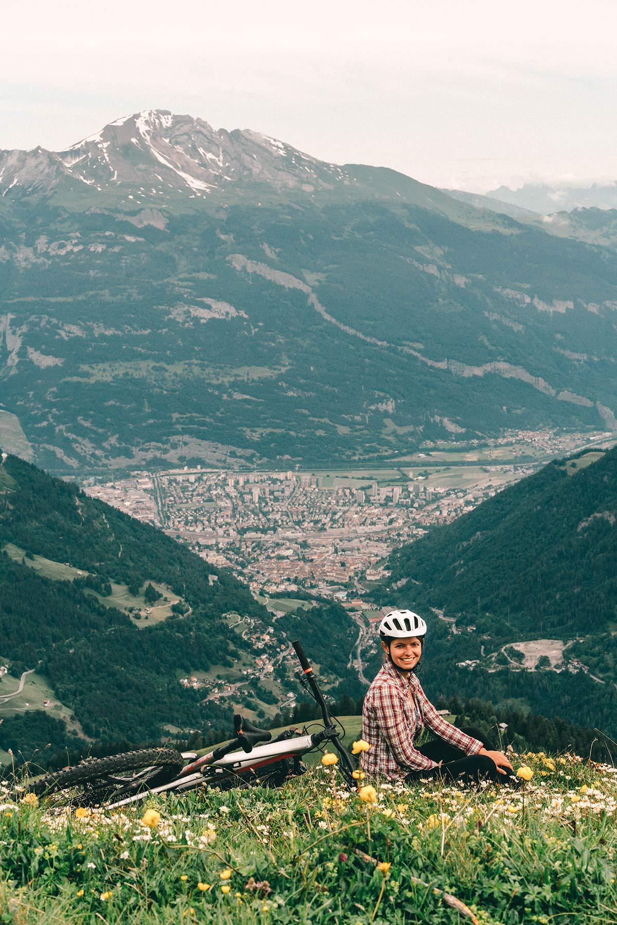 Christine neder Schweiz biken