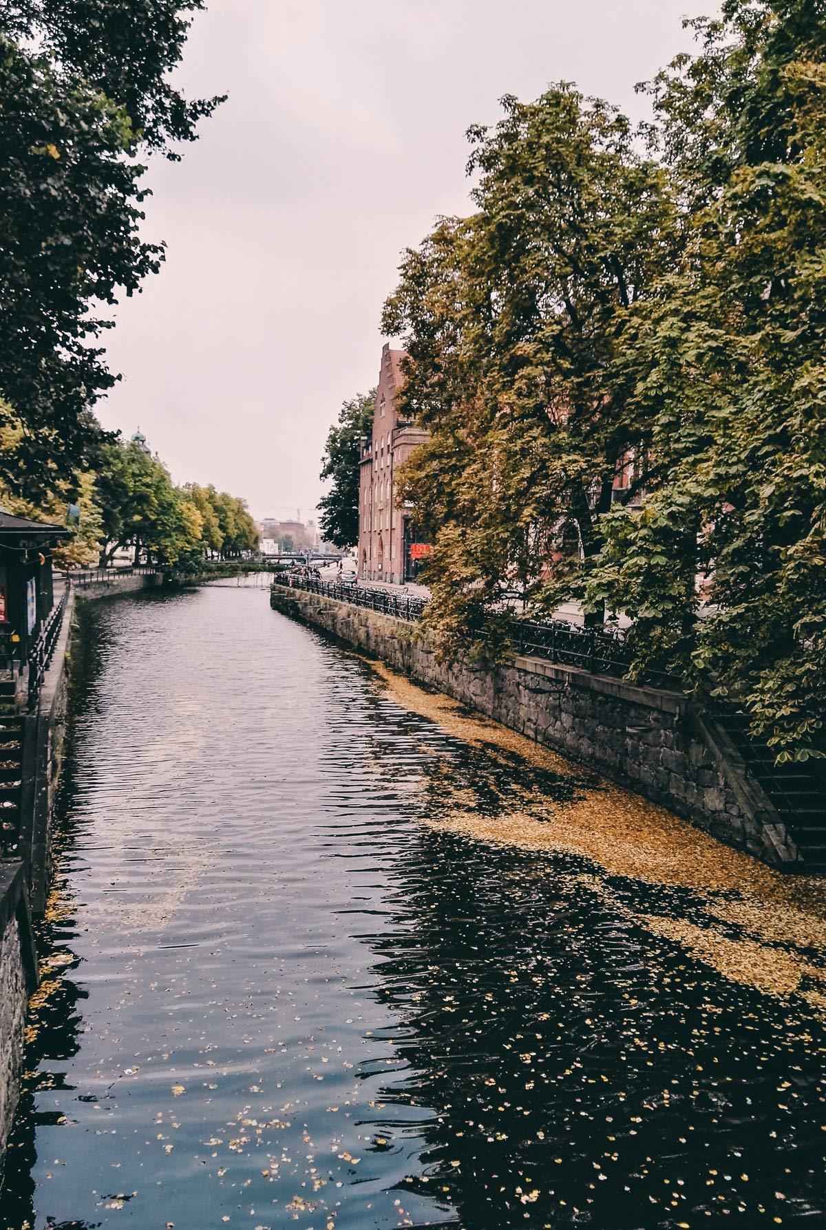 Gracht in Uppsala Stockholm