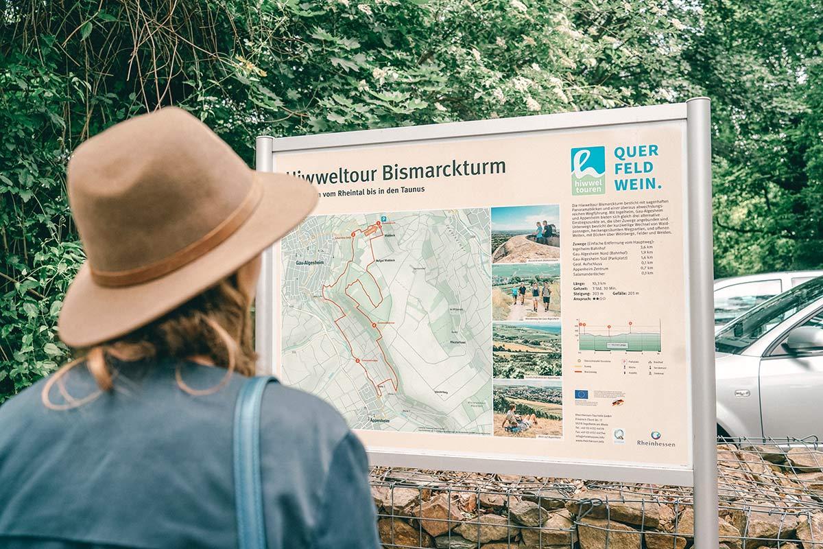 Hiwweltour Bismarckturm Rheinhessen