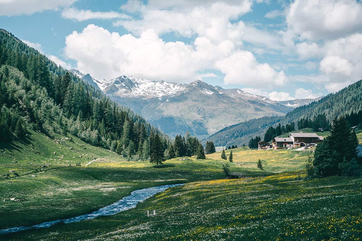 Landschaft Tal Davos