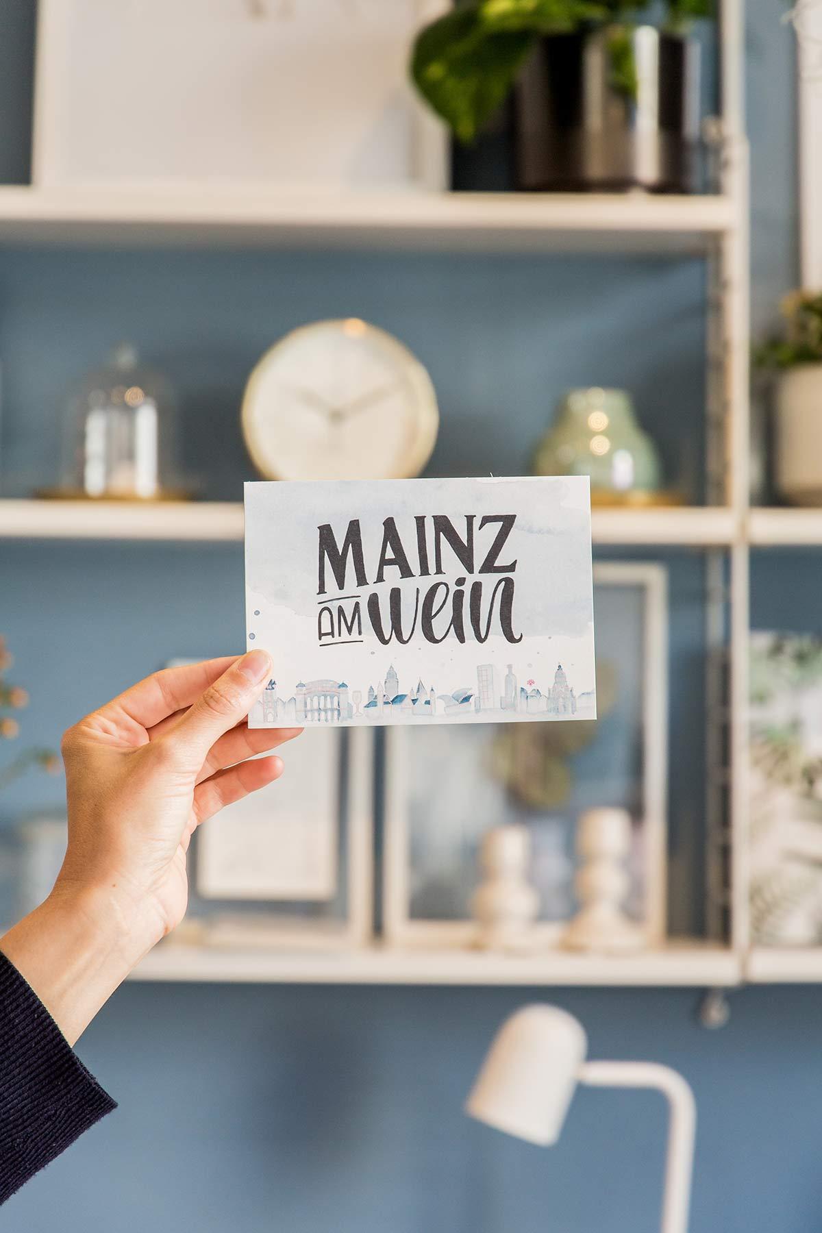 Mainz am Wein Postkarte