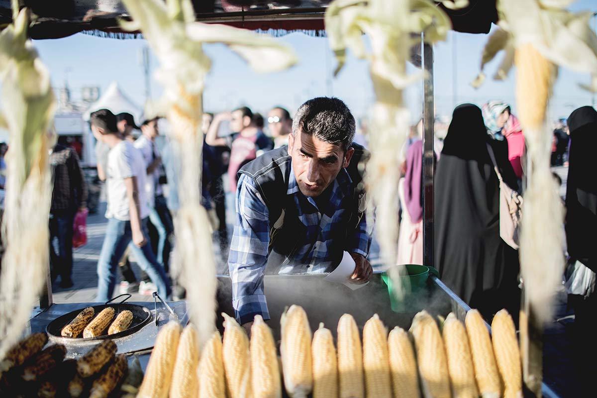 Marktverkaeufer in Istanbul