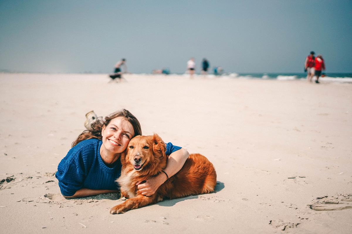 Mit Hund auf Juist