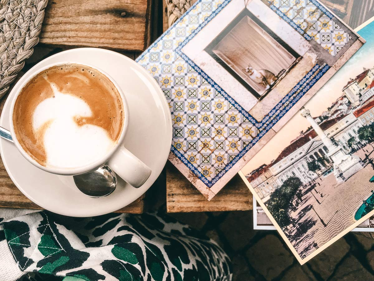 Postkarte schreiben Lissabon