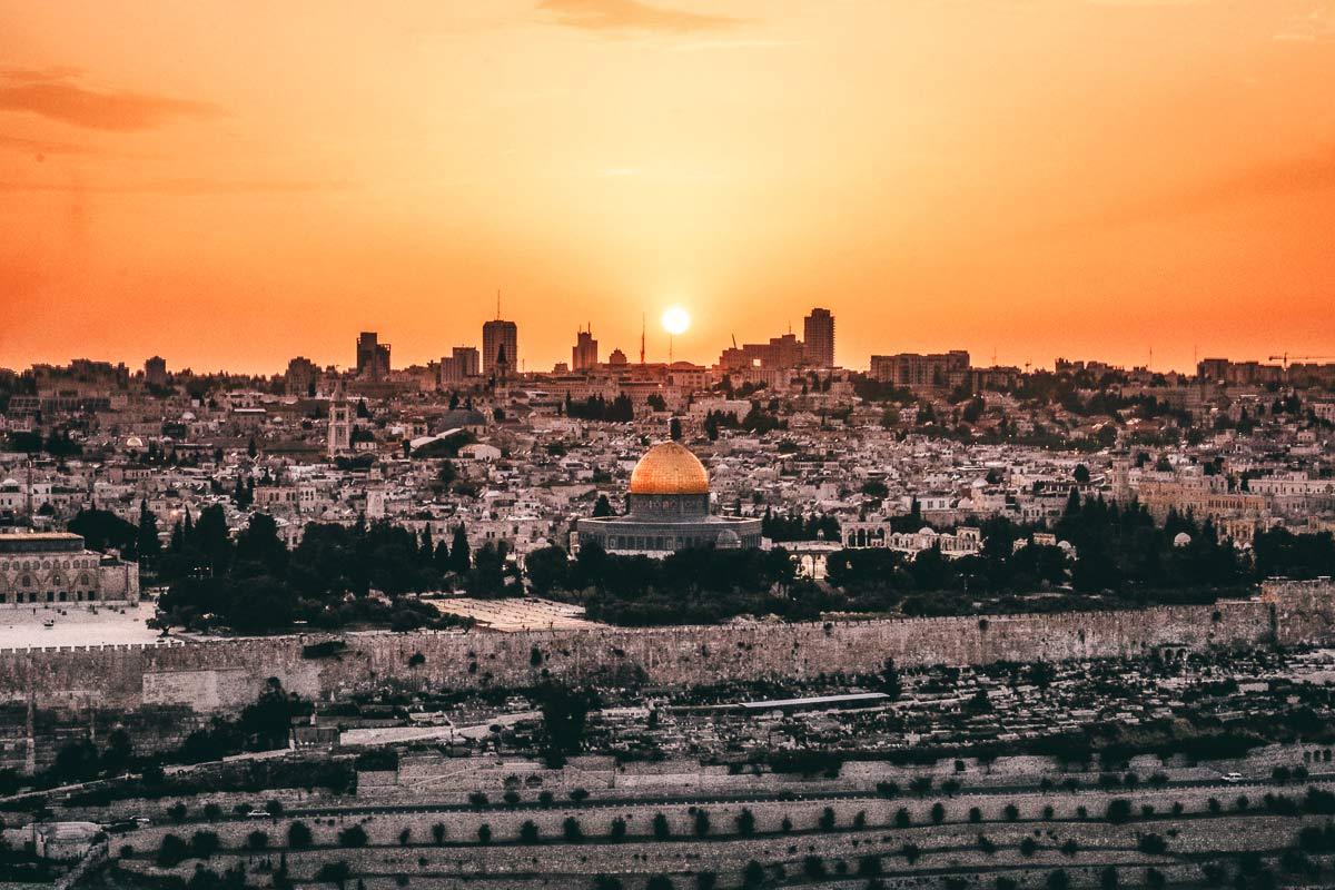 Sonnenuntergang Ölberg Israel