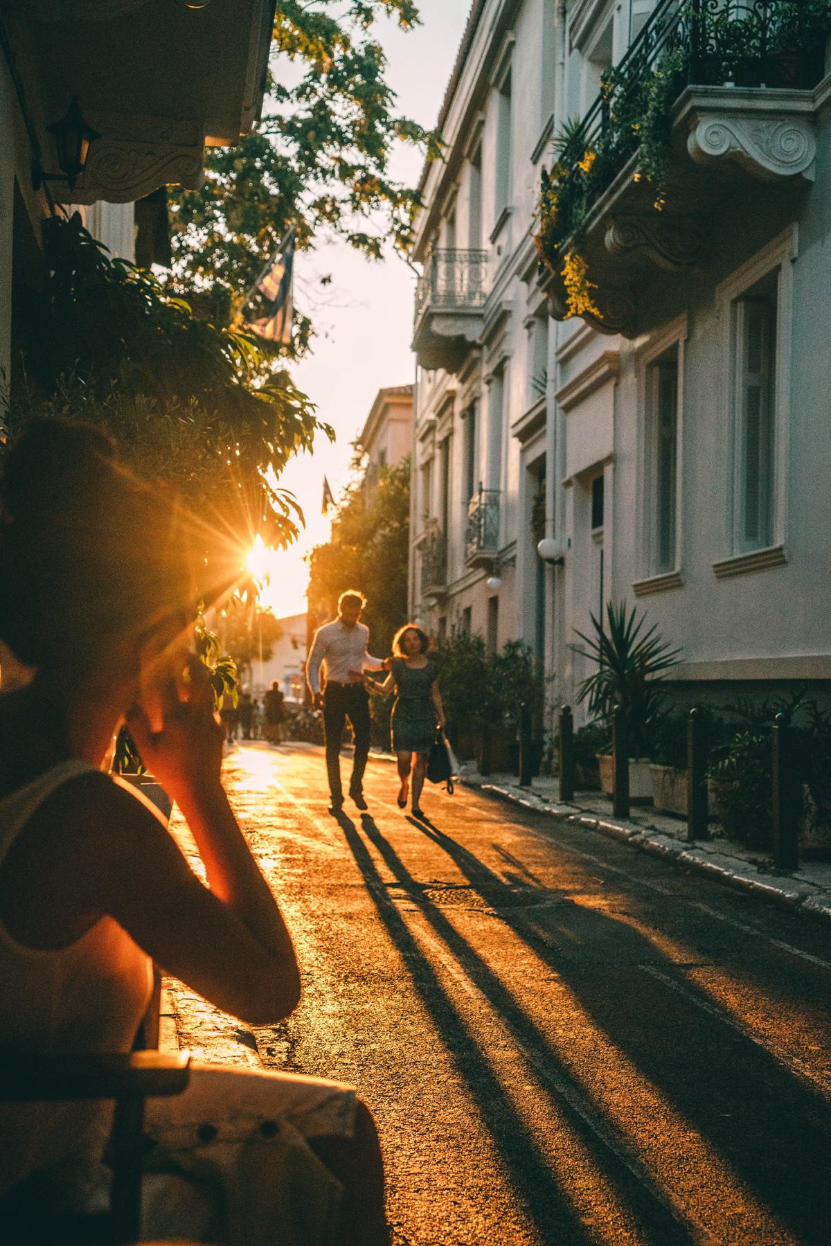 Athen-Sonnenuntergang