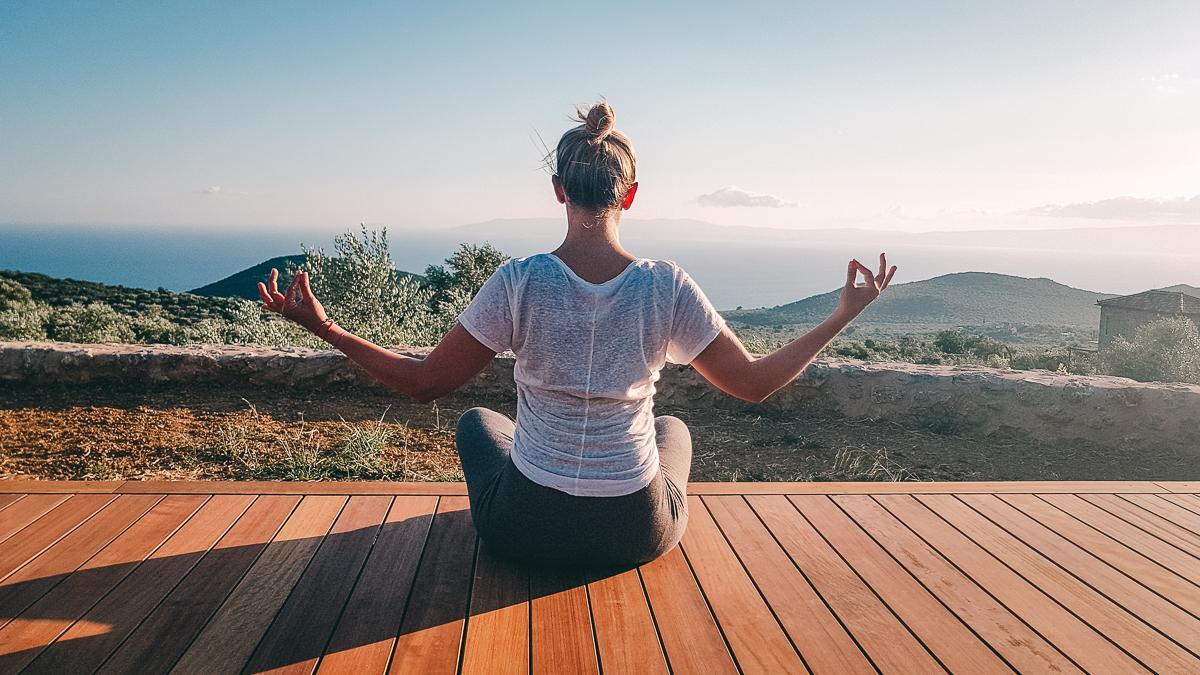 Ausblick vom Yoga Retreat in Mani