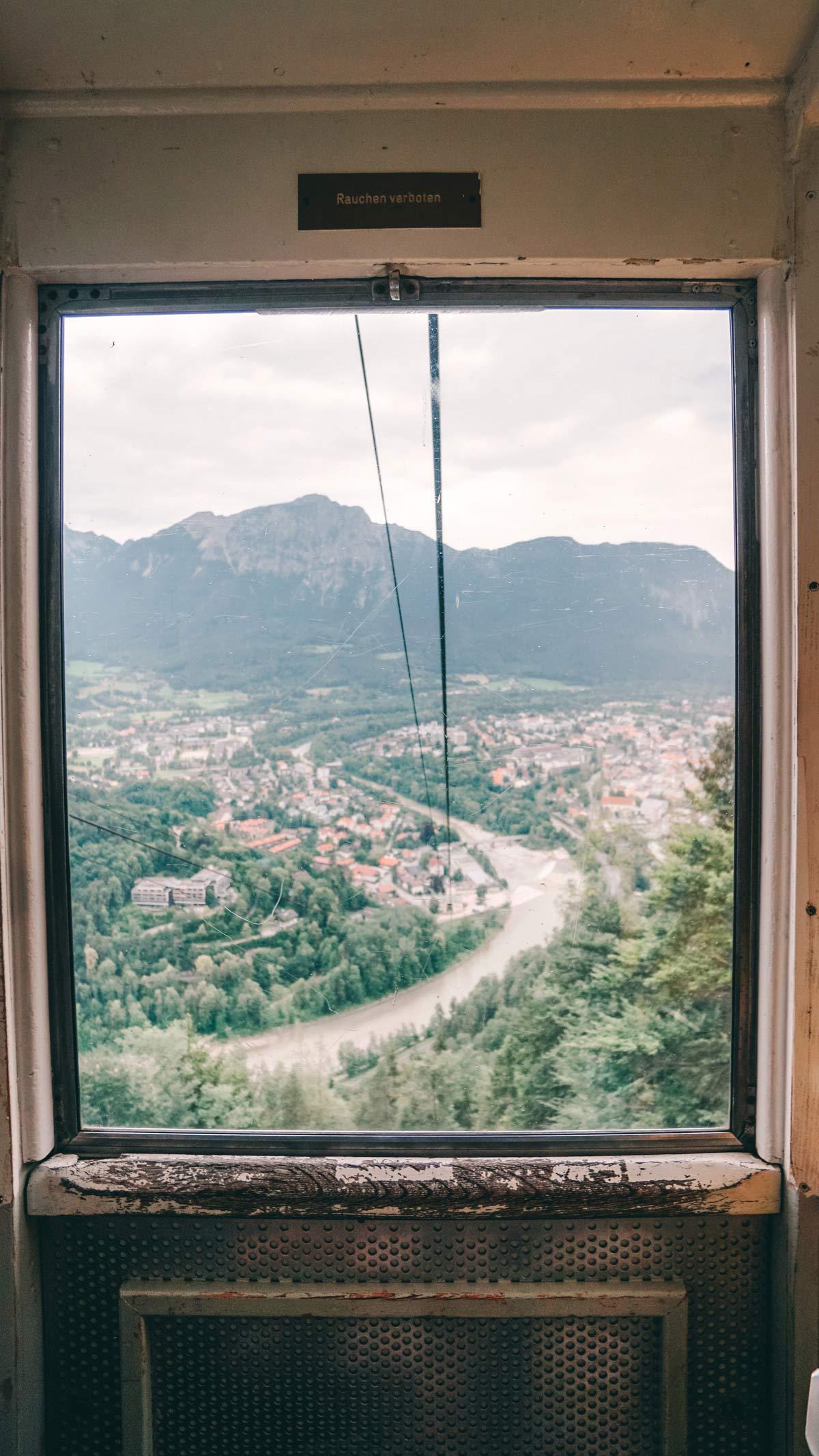 Bad Reichenhall Predigtstuhl Auffahrt Ausblick