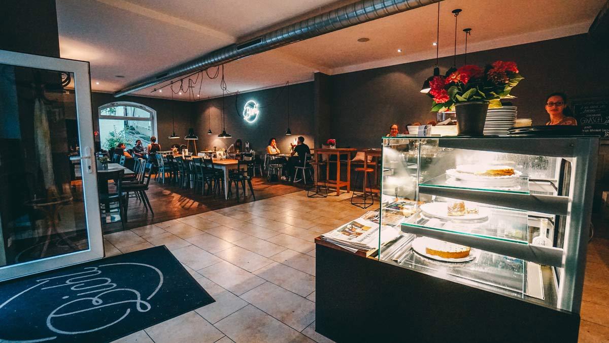 Burghausen Abendessen im Cafe Bichl