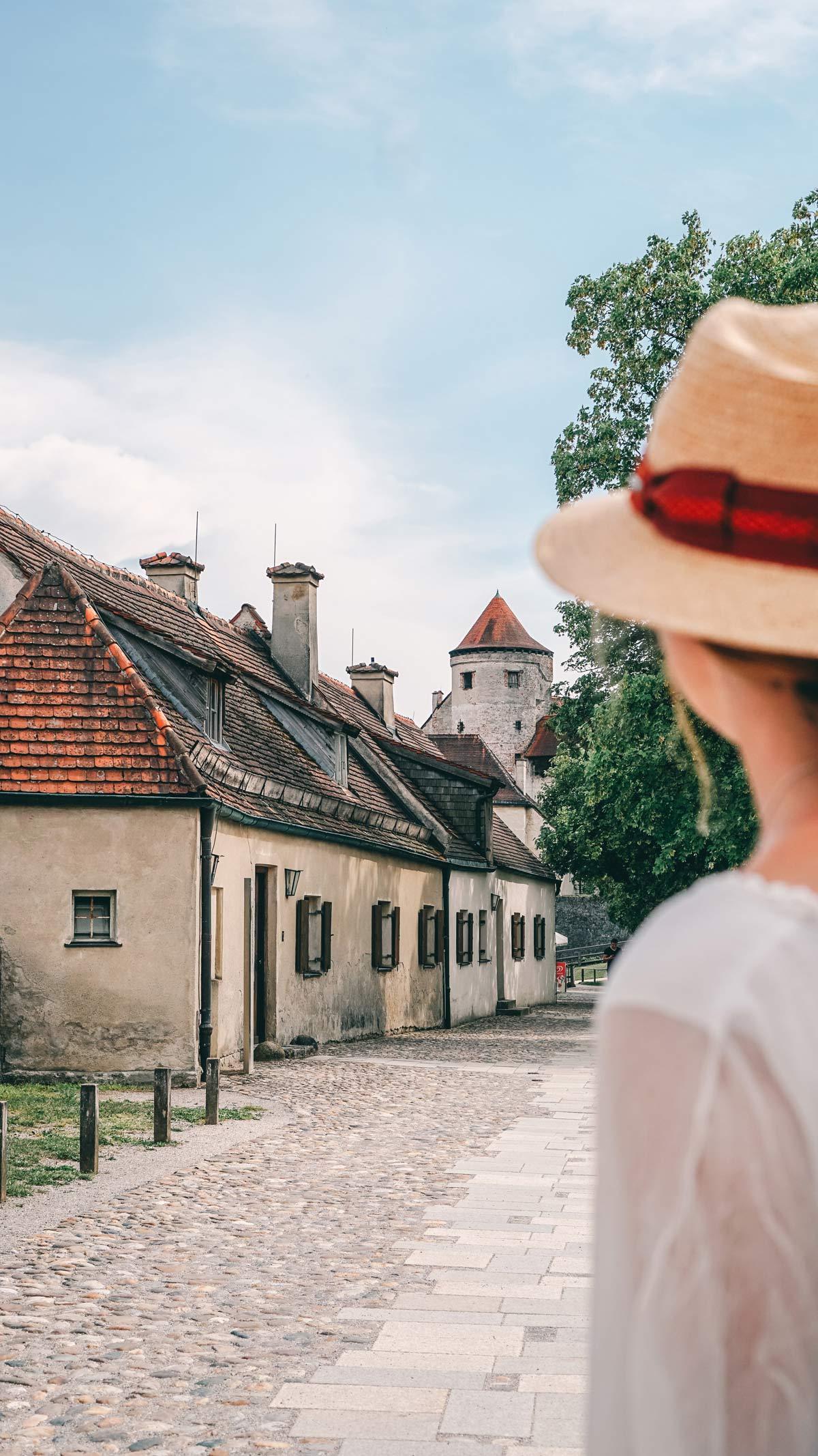 Burghausen Blick Hof Burg