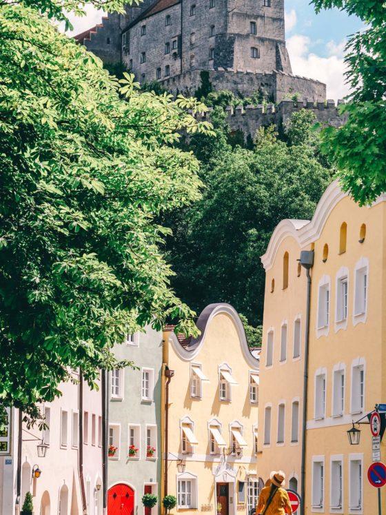 Burghausen Burg Ausblick Altstadt