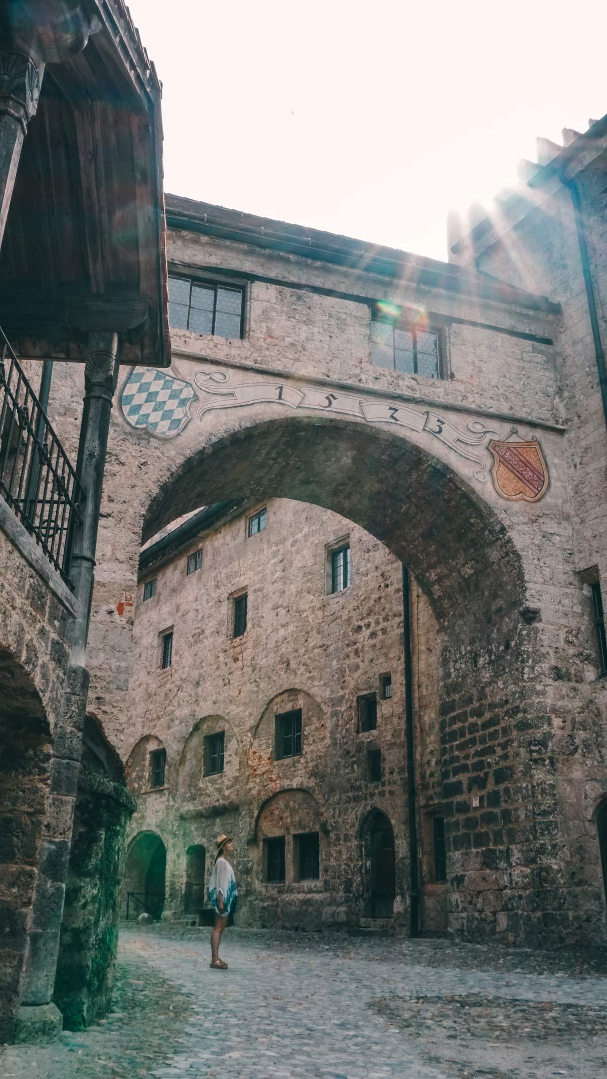 Burghausen Haupthof der Burg