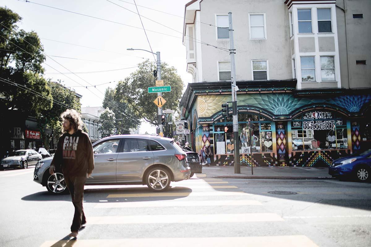 Kreuzung im Hippie Viertel