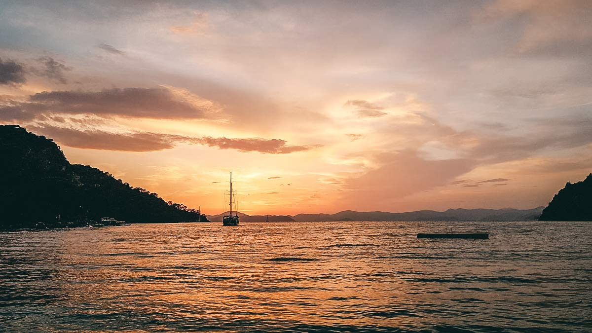 Sonnenuntergang Kalemya Bucht