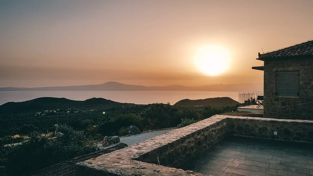 Sonnenuntergang Zen Rocks
