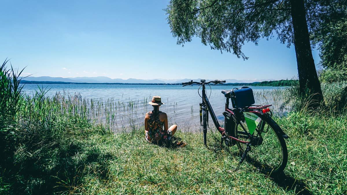 Starnberger See Radfahren Rast