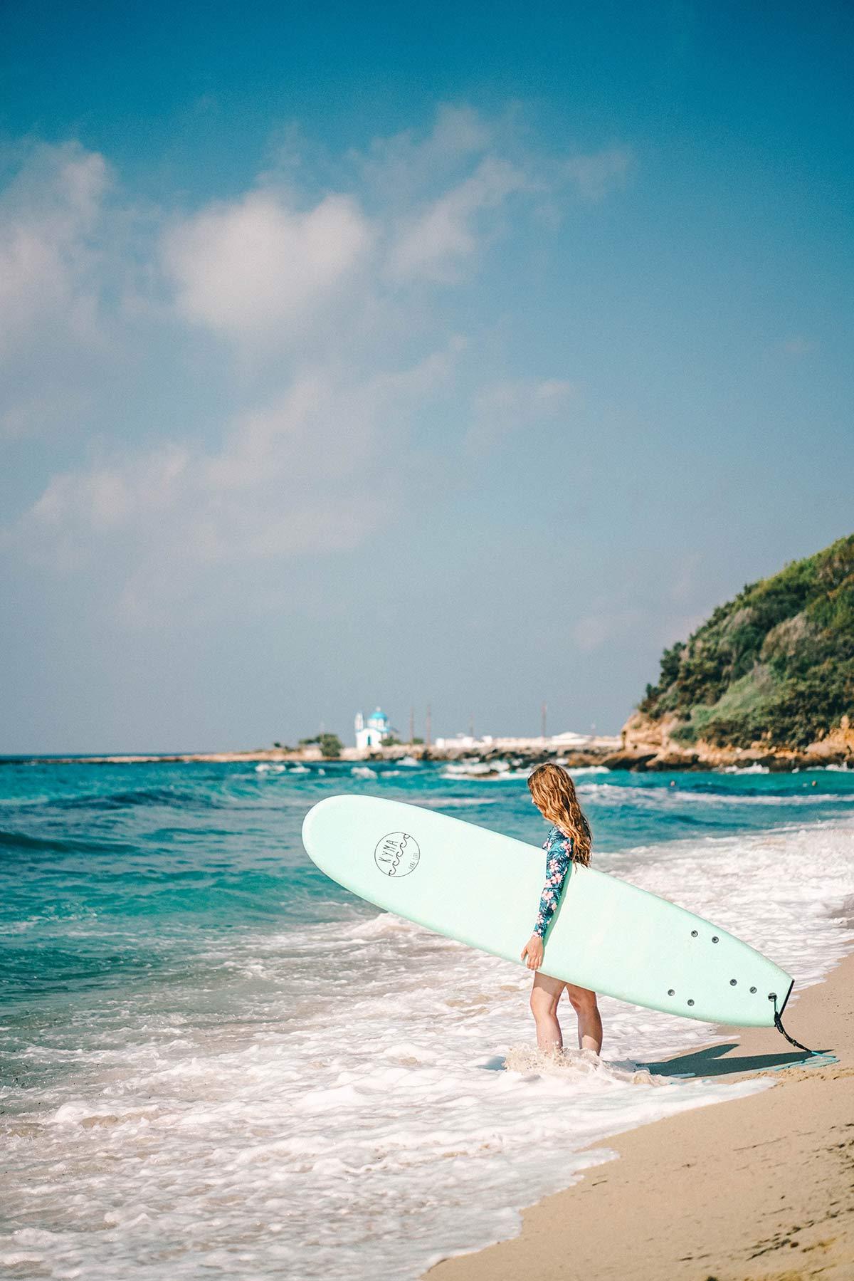 Surfen auf Ikaria