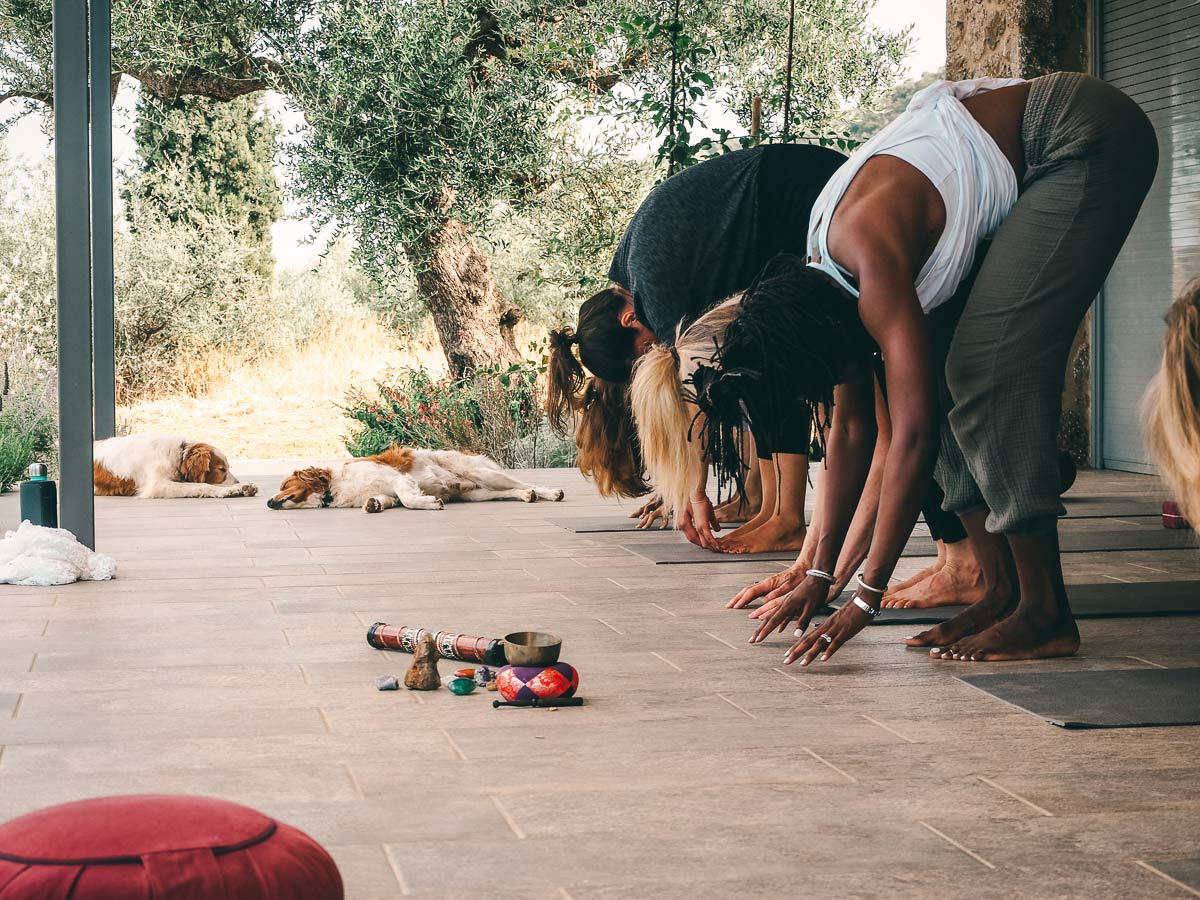 Yoga Session in Griechenland Peloponnes