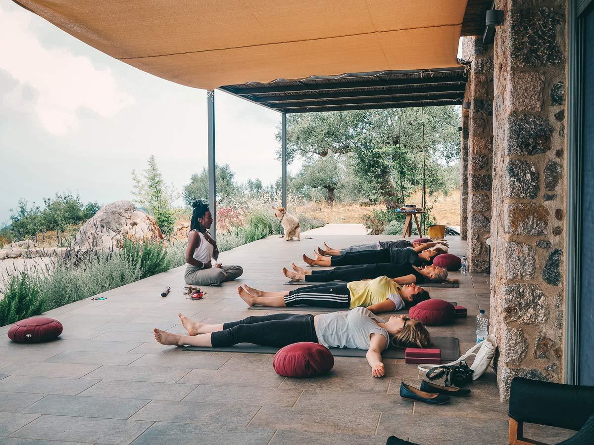Yoga Unterricht Mani in Griechenland