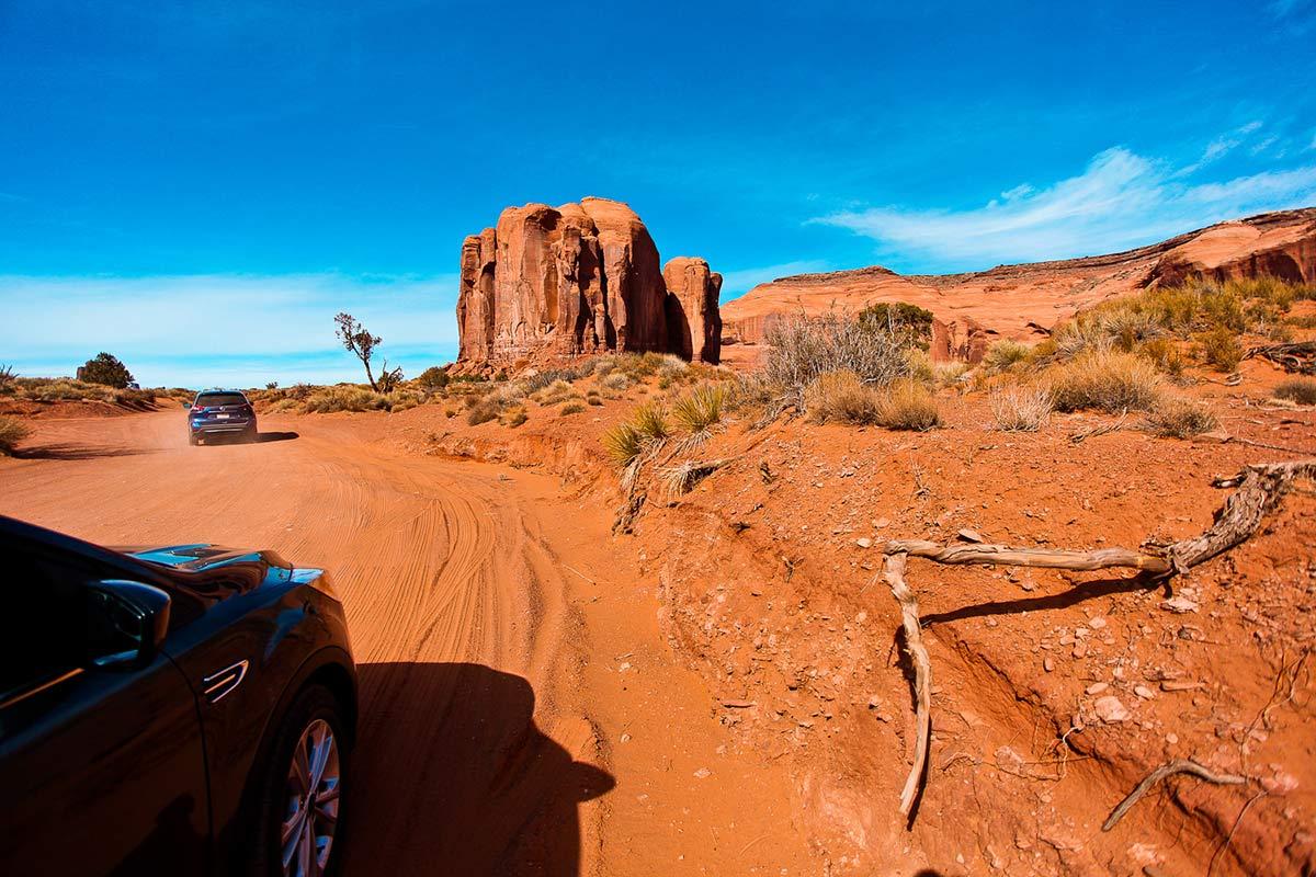 17 Mile Loop Drive Strasse durchs Monument Valley