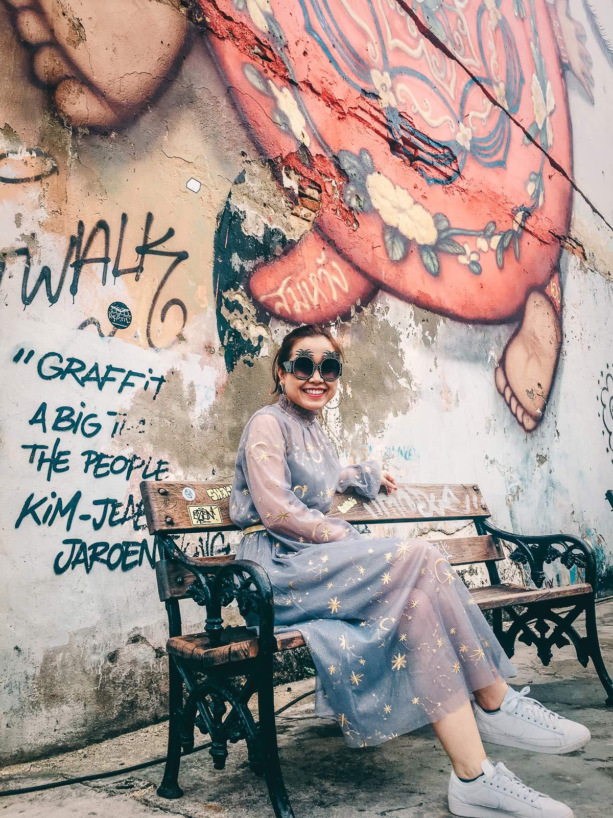 Asian Girl Portrait Old Town Phuket