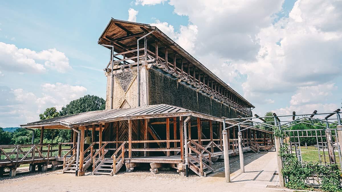 Aufsicht aufs Gradierwerk Bad Staffelstein
