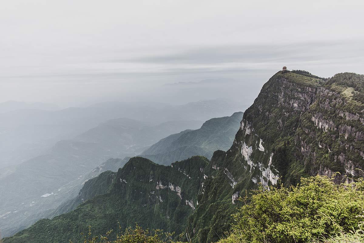 Ausblick von Mount Emei in China
