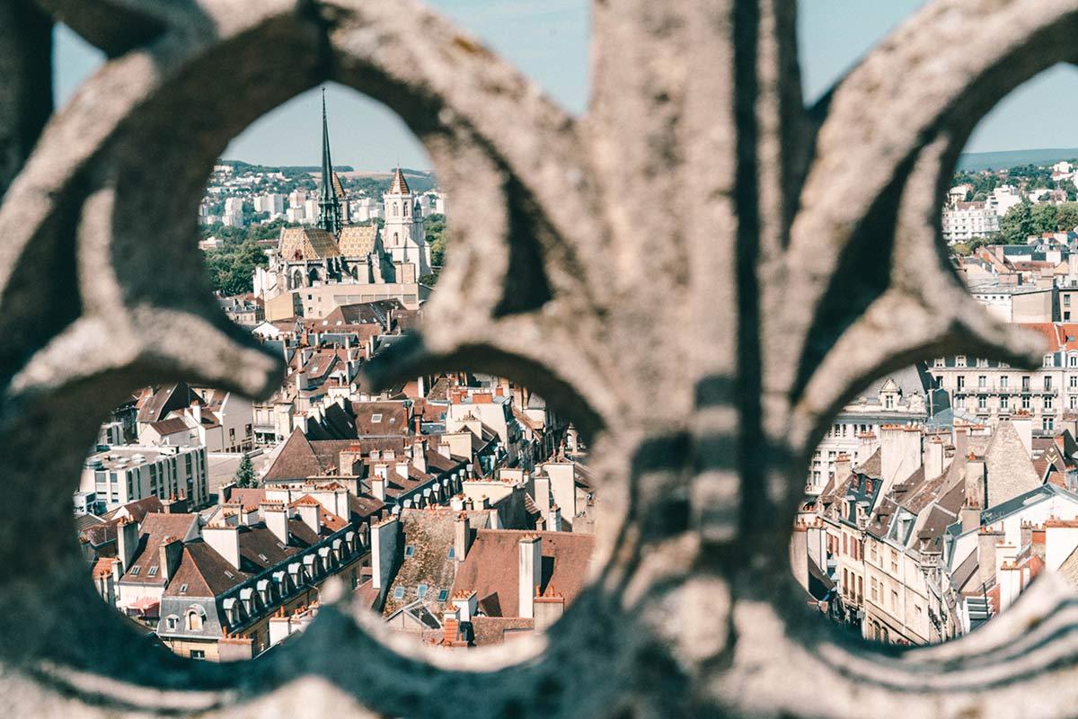Aussicht auf Dijon, Frankreich